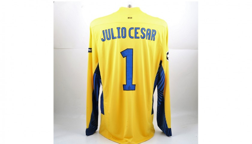 huge selection of 5e7ab 224bc Julio Cesar's Issued/Worn Inter Shirt, UCL 2011/12 - CharityStars