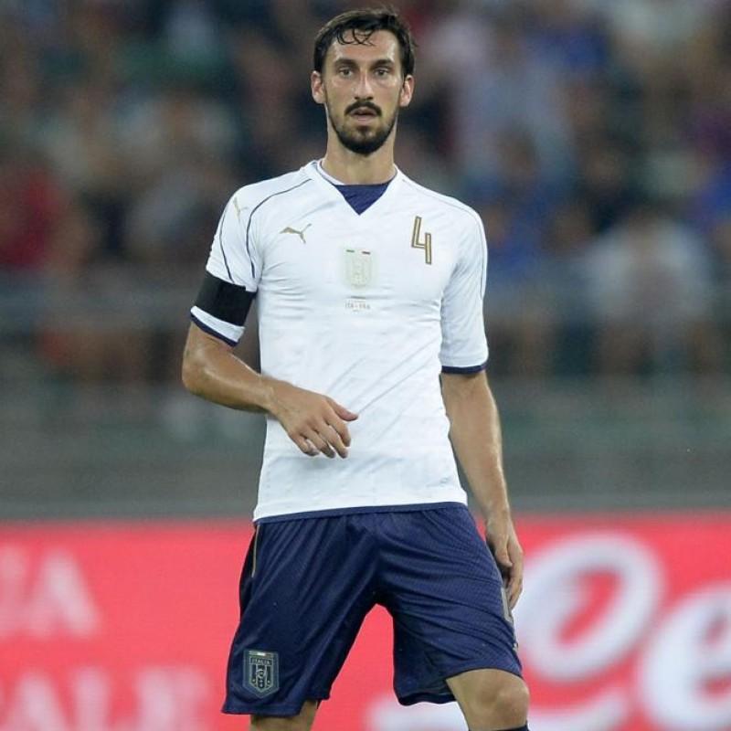 Astori's Match-Issue/Worn Shirt, Macedonia-Italy 2016