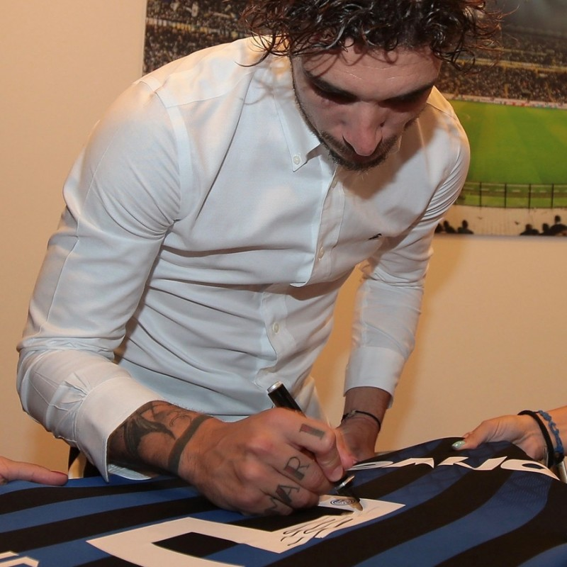 Inter Shirt Signed and Hand-Delivered by Sime Vrsaljko #3