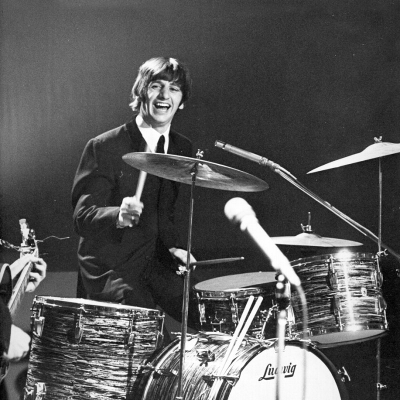 """Ringo Starr """"The Beatles"""" Drumhead with Photograph and Digital Signature"""