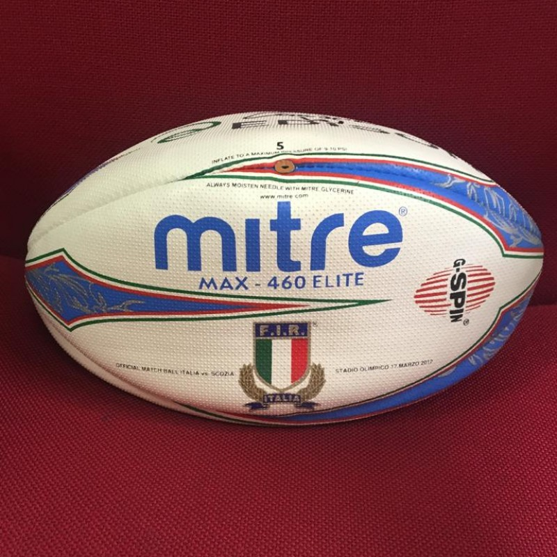 Italy-Scotland 2012 Rugby Ball - Signed by Camiscioni