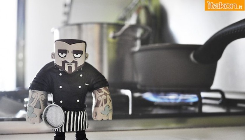 Limited edition Chef Rubio art toy and the graphic novel