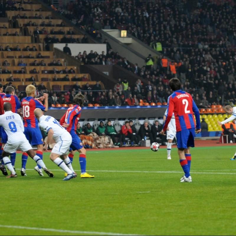 Maglia Semberas indossata CSKA Mosca-Inter 2010