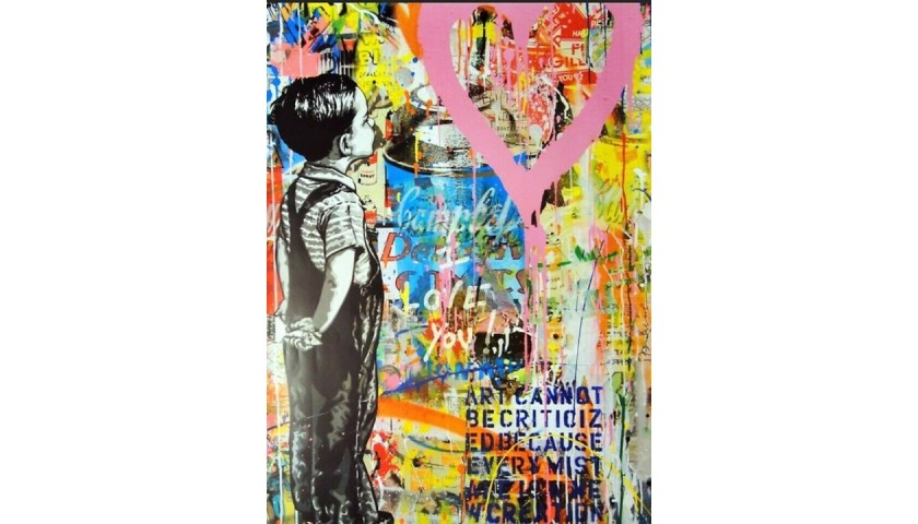 """""""With all my love"""" Poster by Mr. Brainwash"""