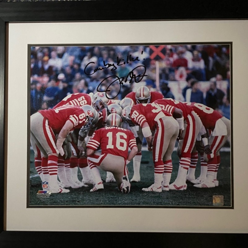 "Joe Montana Signed Photo Inscribed ""Cowboy Killer"""