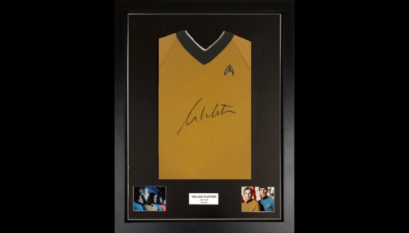 William Shatner Star Trek Framed Uniform