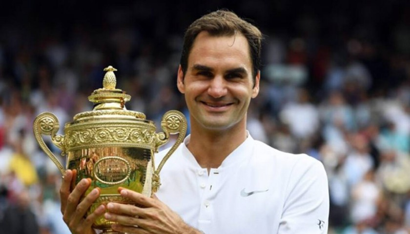 Roger Federer's Signed Official Polo Shirt