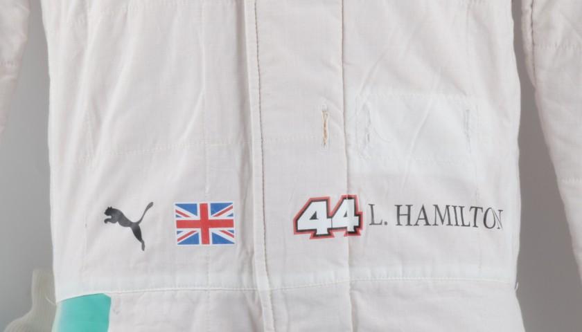 Mercedes suit worn by Lewis Hamilton, F1 2016 season - signed + COA