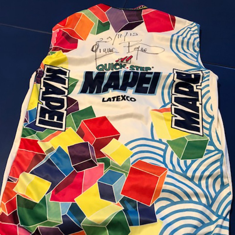 Cycling Windbreaker Signed by Gianni Bugno