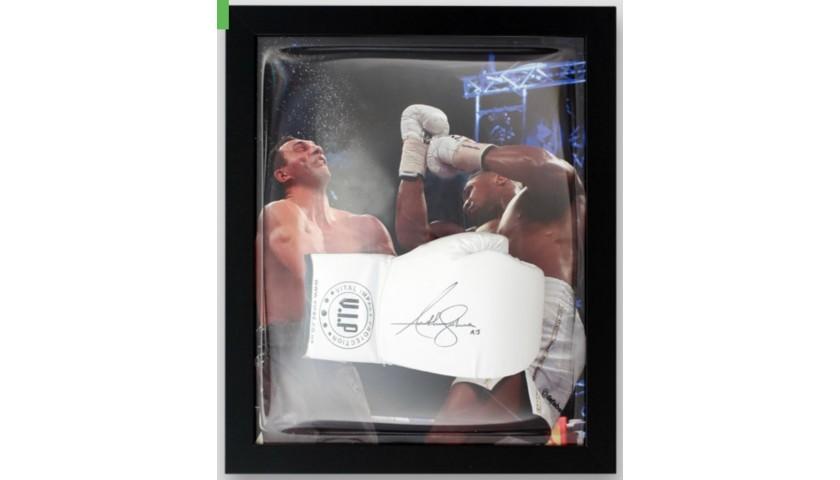 Anthony Joshua Signed and Framed V.I.P. White Boxing Glove