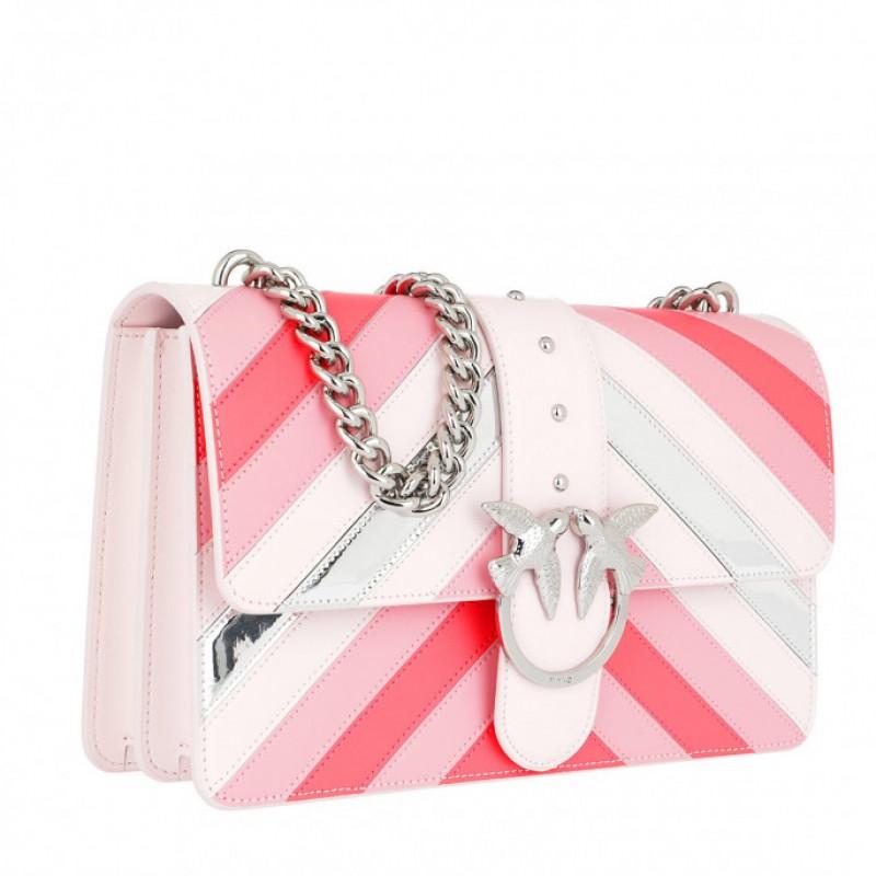 Pinko Love Stripe Intarsio Shoulder Bag 63b4db75d5301