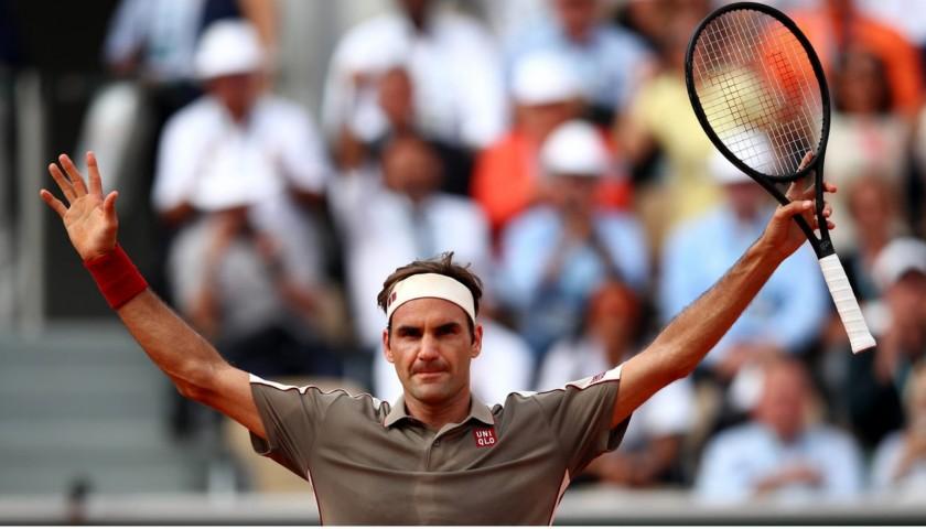 Federer Signed Racquet Display