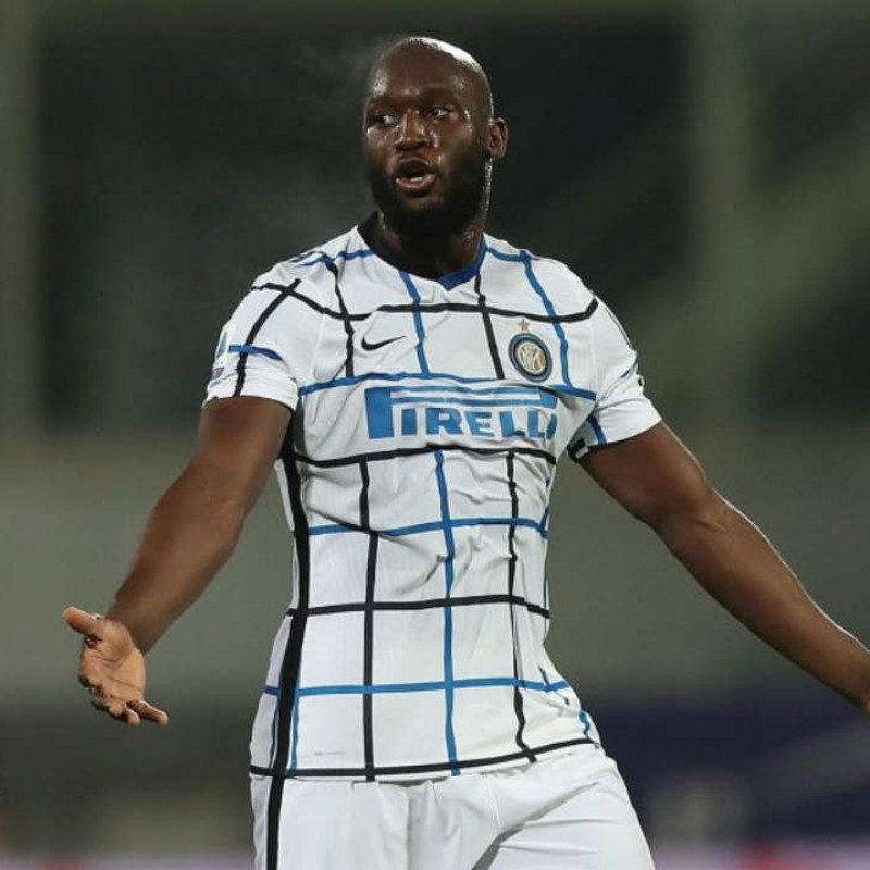 Lukaku's Official Inter Signed Shirt, 2020/21