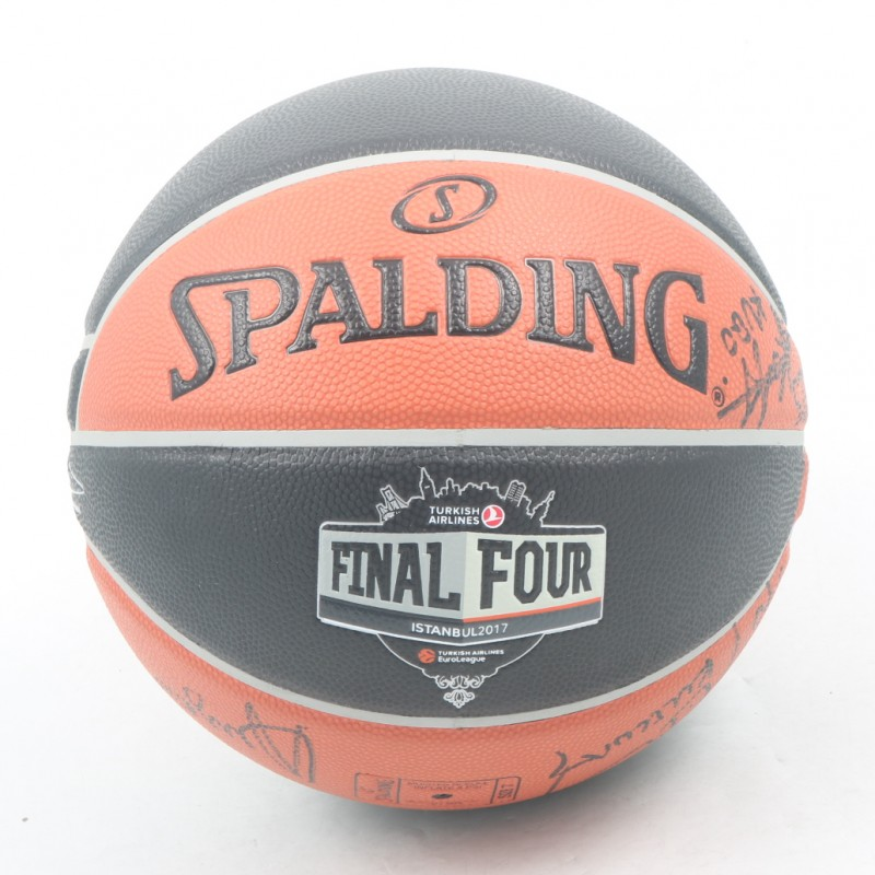Official 2017 Turkish Airlines EuroLeague Final Four Ball Signed by Legends