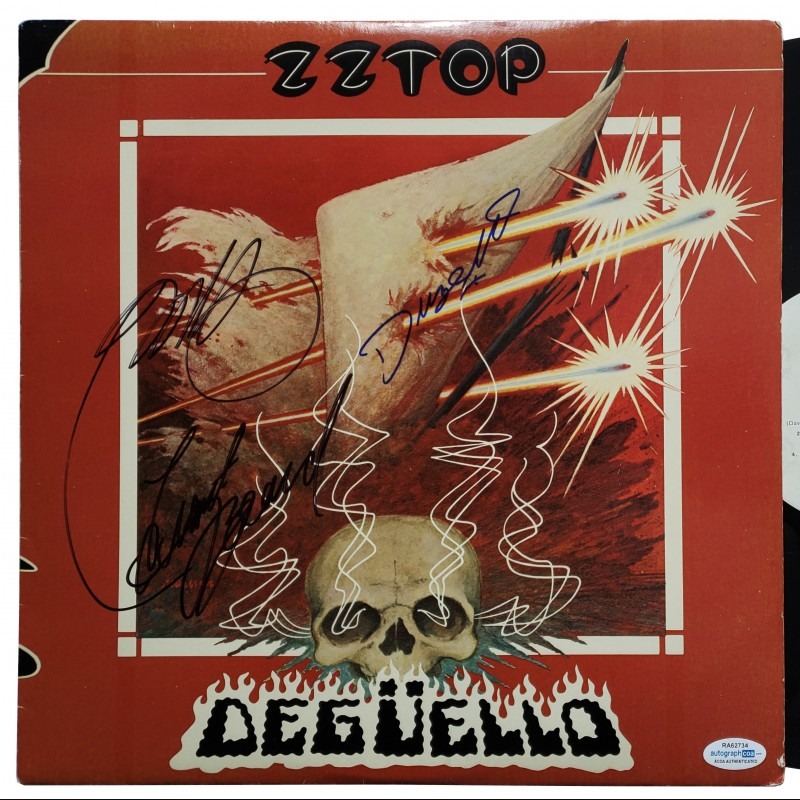 ZZ Topp Hand Signed Record Album