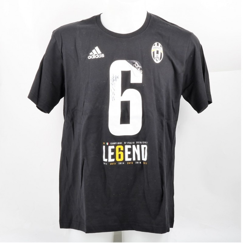 Juventus Scudetto T-shirt - Signed by Gianluigi Buffon