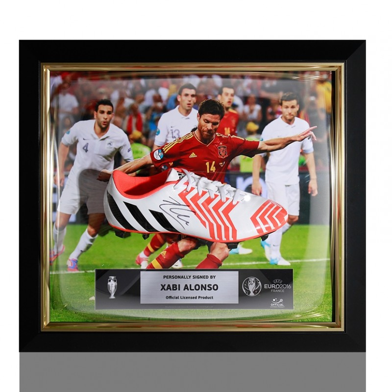 Xabi Alonso Official UEFA EURO 2016 Signed and Framed Boot
