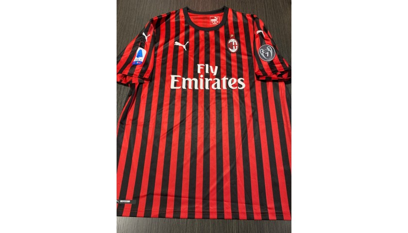 Ibrahimovic's Official Milan Signed Shirt, 2019/20