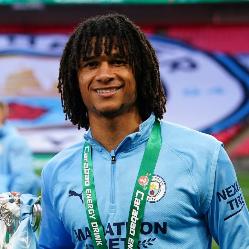 Ake's Match-Issued Signed Shirt, Carabao Cup Final