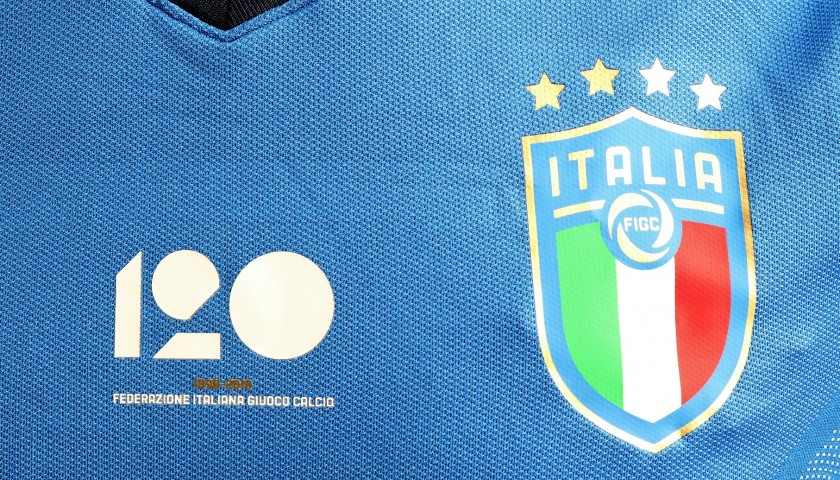 Bonucci's Italy 2018 Match-Issued Shirt