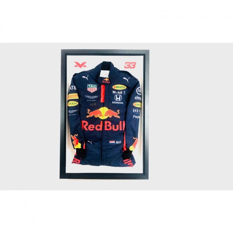 Max Verstappen Red Bull Replica Overalls - Signed