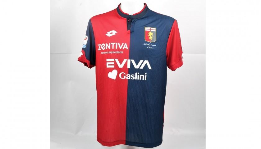 Omeonga's UNWASHED Special Genoa-Sampdoria Match-Worn Shirt