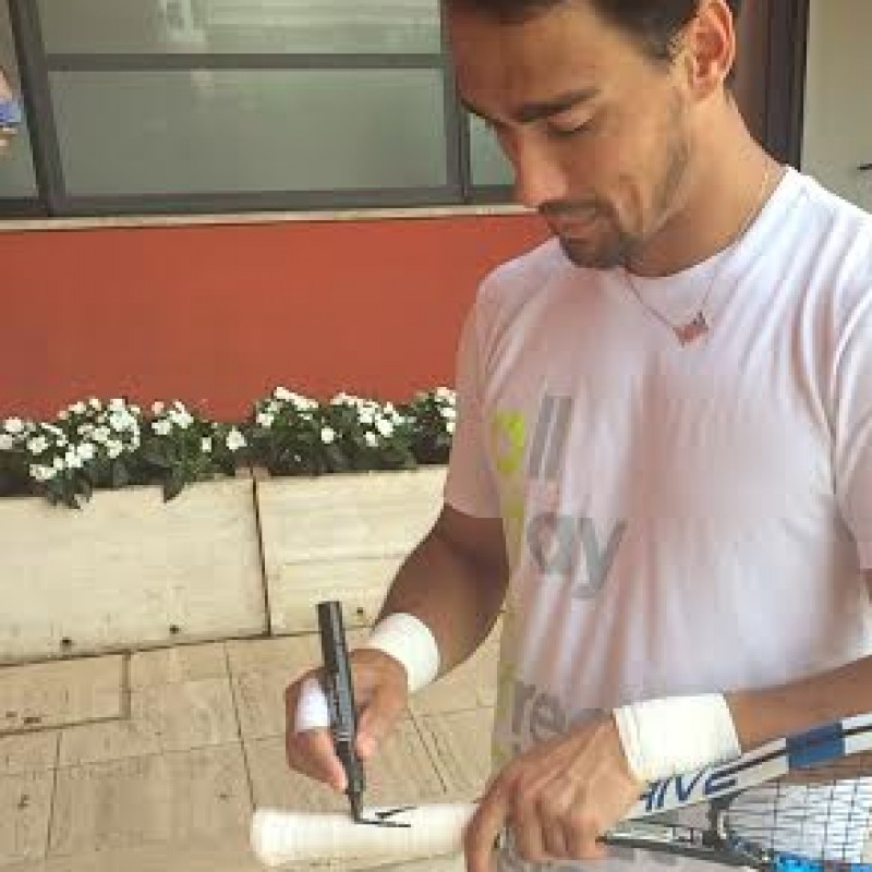 Fabio Fognini match used racket, Mutua Madrid Open - signed