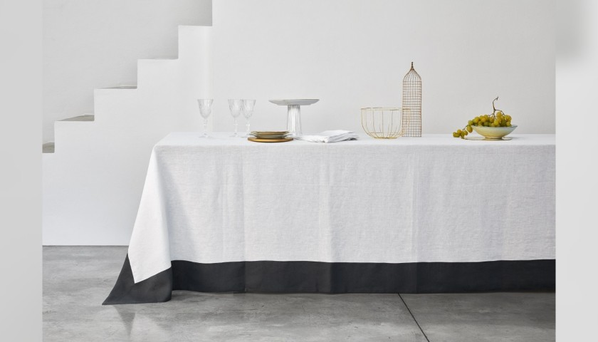 Made-to-Measure Pure Linen Tablecloth - Linea Adele