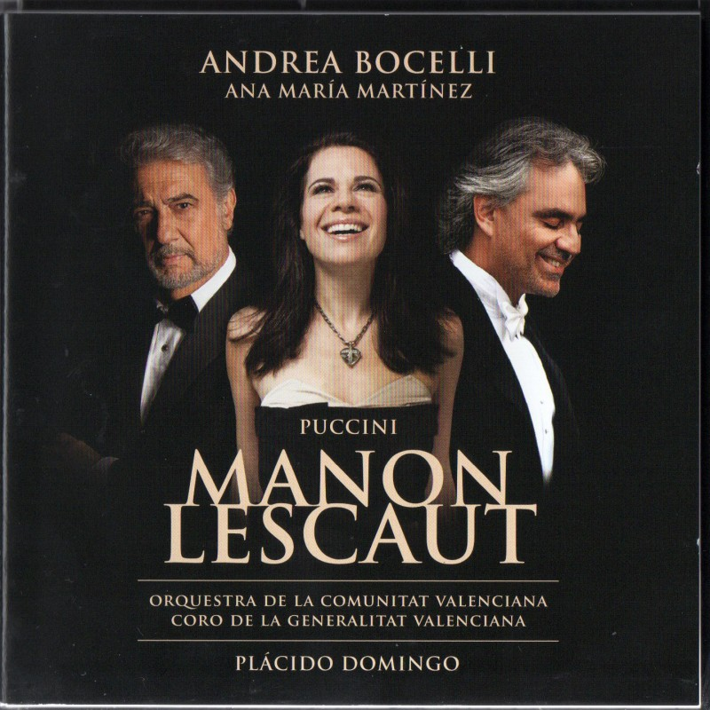 """Manon Lescaut"" CD Signed by Andrea Bocelli"