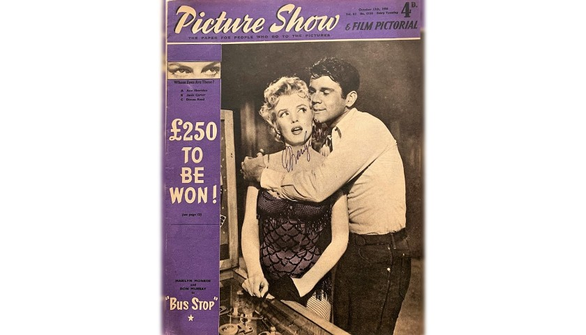 """Picture Show"" Magazine,1956 - Signed by Marilyn Monroe"