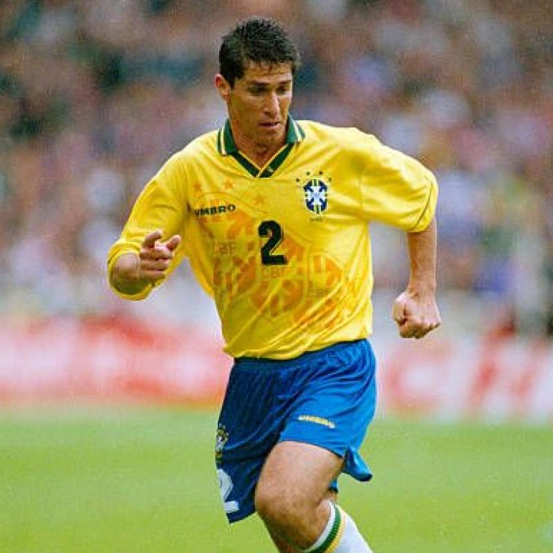 Jorginho's Official Brazil Signed Shirt, 1994