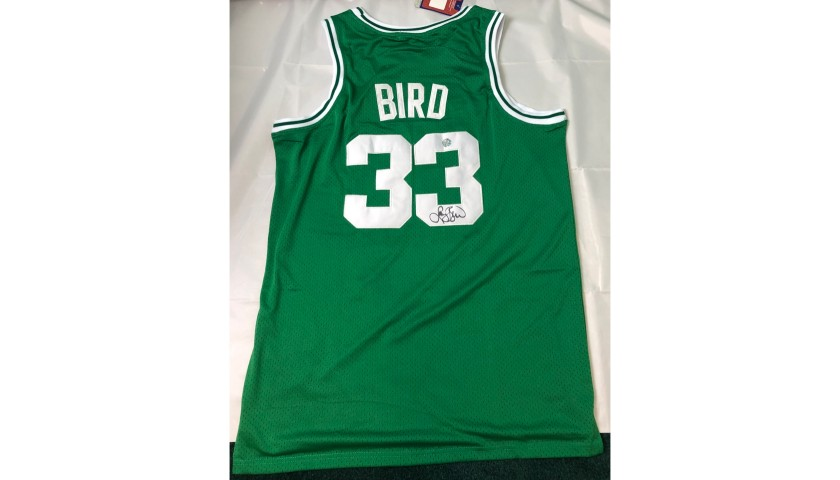 Larry Bird Hand Signed Jersey