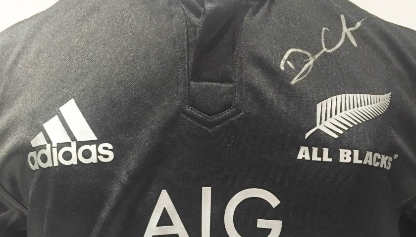 New Zealand shirt signed by Dan Carter