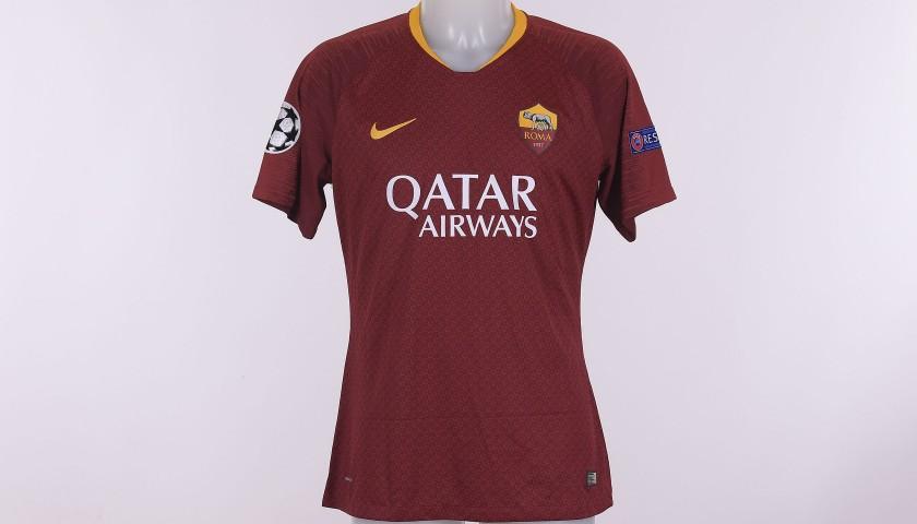 Manolas' Worn Shirt, Roma-Real Madrid CL 2018/19