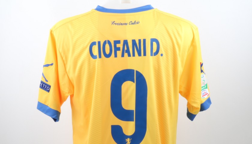 Ciofani Match Worn GOL Shirt, Frosinone-Hellas 25/02/2017