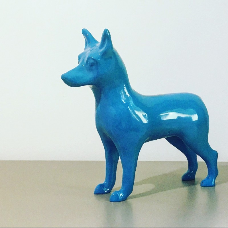 ". Resina ""NinaForTheDogs"" - marble dust sculpture - 31x30x0.9 cm"