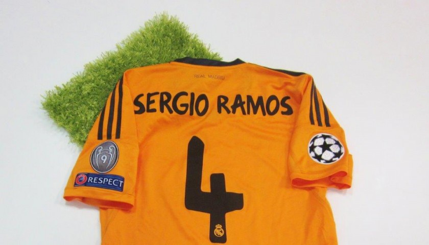 sports shoes 9198a 873a7 Sergio Ramos Real Madrid issued/worn shirt, Champions League 2013/2014 -  CharityStars