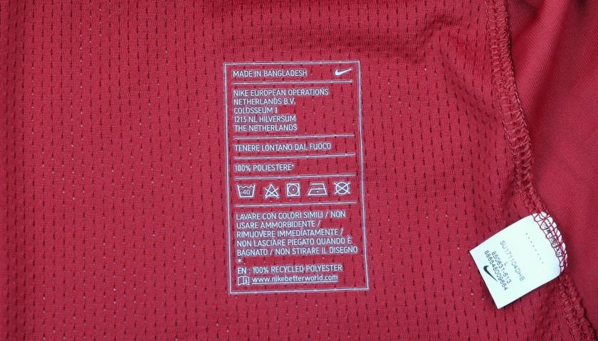 Nainggolan's Match-Worn Roma-Cagliari Shirt, Special Sponsor Telethon