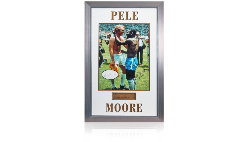 Bobby Moore & Pele Signed Presentation