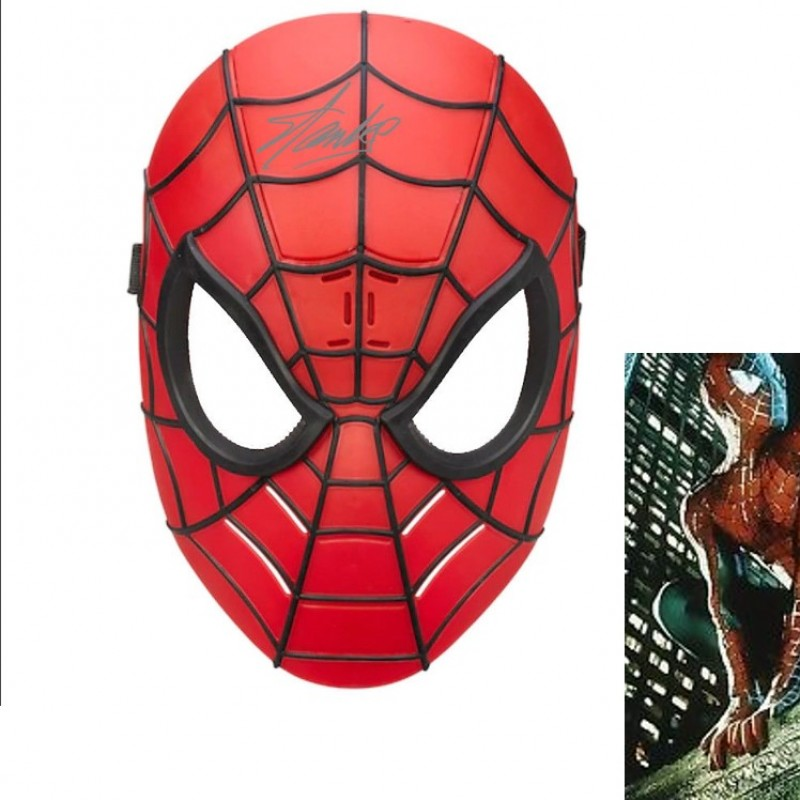 """Spiderman"" Mask with Stan Lee Printed Signature"