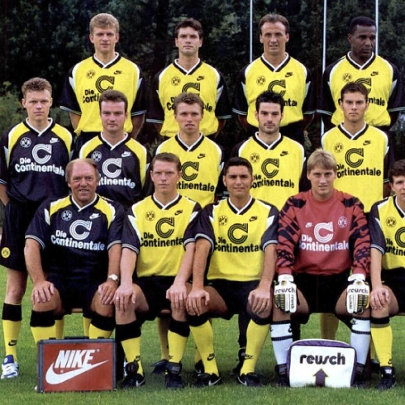 Maglia Ufficiale Kree Borussia Dortmund, 1995/96 - Autografata da Kree e Sammer