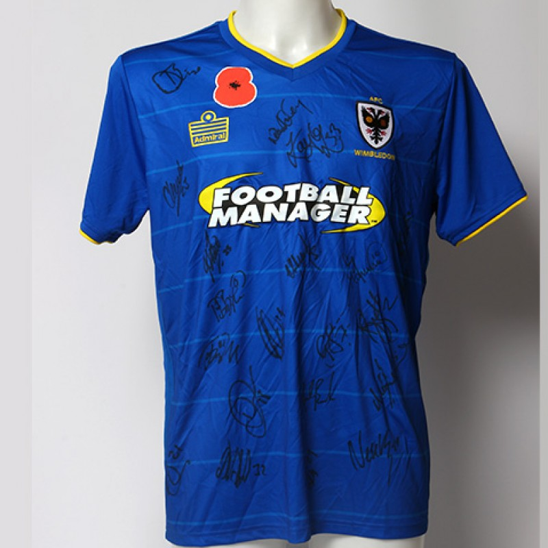 Poppy Shirt Signed by AFC Wimbledon