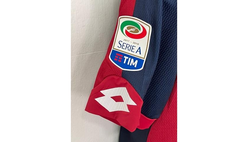 Lapadula's Genoa Match Shirt, 2017/18