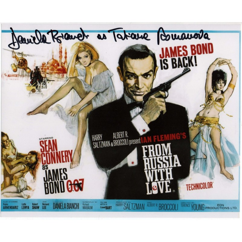 """James Bond """"From Russia with Love"""" - Photograph Signed by Daniela Bianchi"""