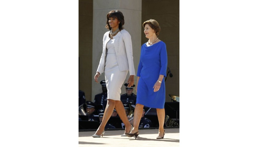 Meet First Ladies Michelle Obama and Laura Bush