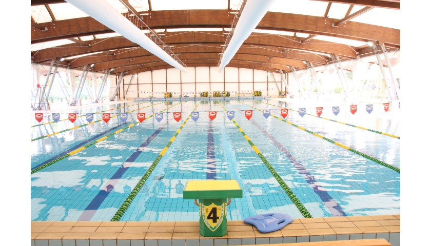Spend a Day Training with Massimiliano Rosolino + Signed Swimming Cap