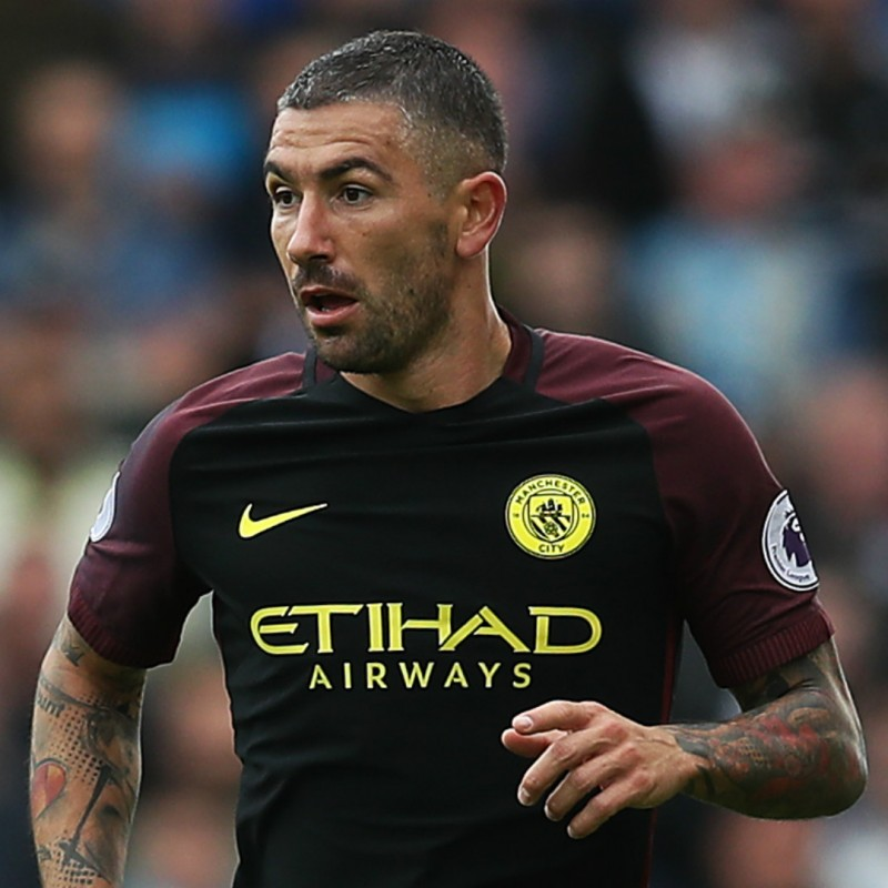 Kolarov's Unwashed Match-Worn Manchester City Shirt, 2016/17