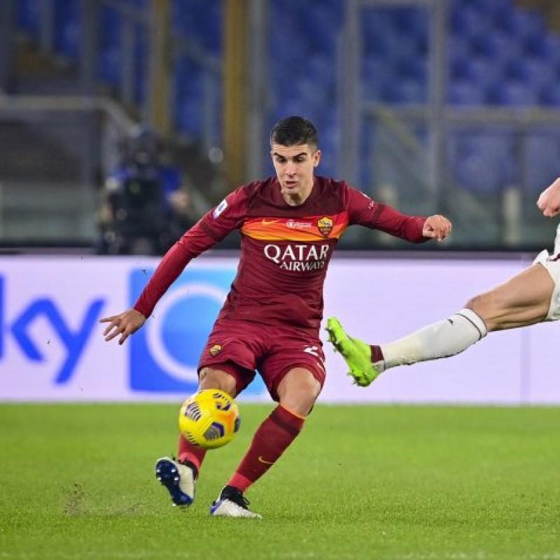 Mancini's Worn Match Shirt, Roma-Torino - WFP Special
