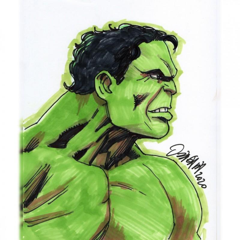 Hulk - Marvel Comics Original Drawing by Ryan Odagawa