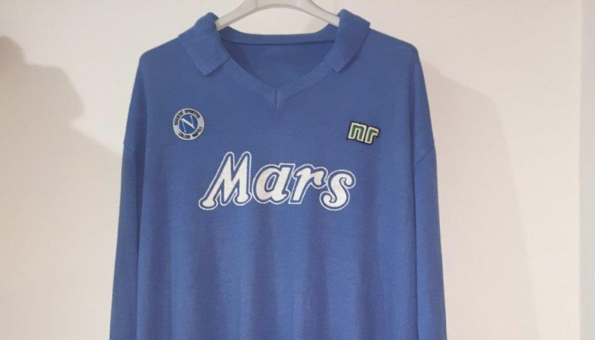 Maradona Napoli shirt, issued/worn 1988/1989 season